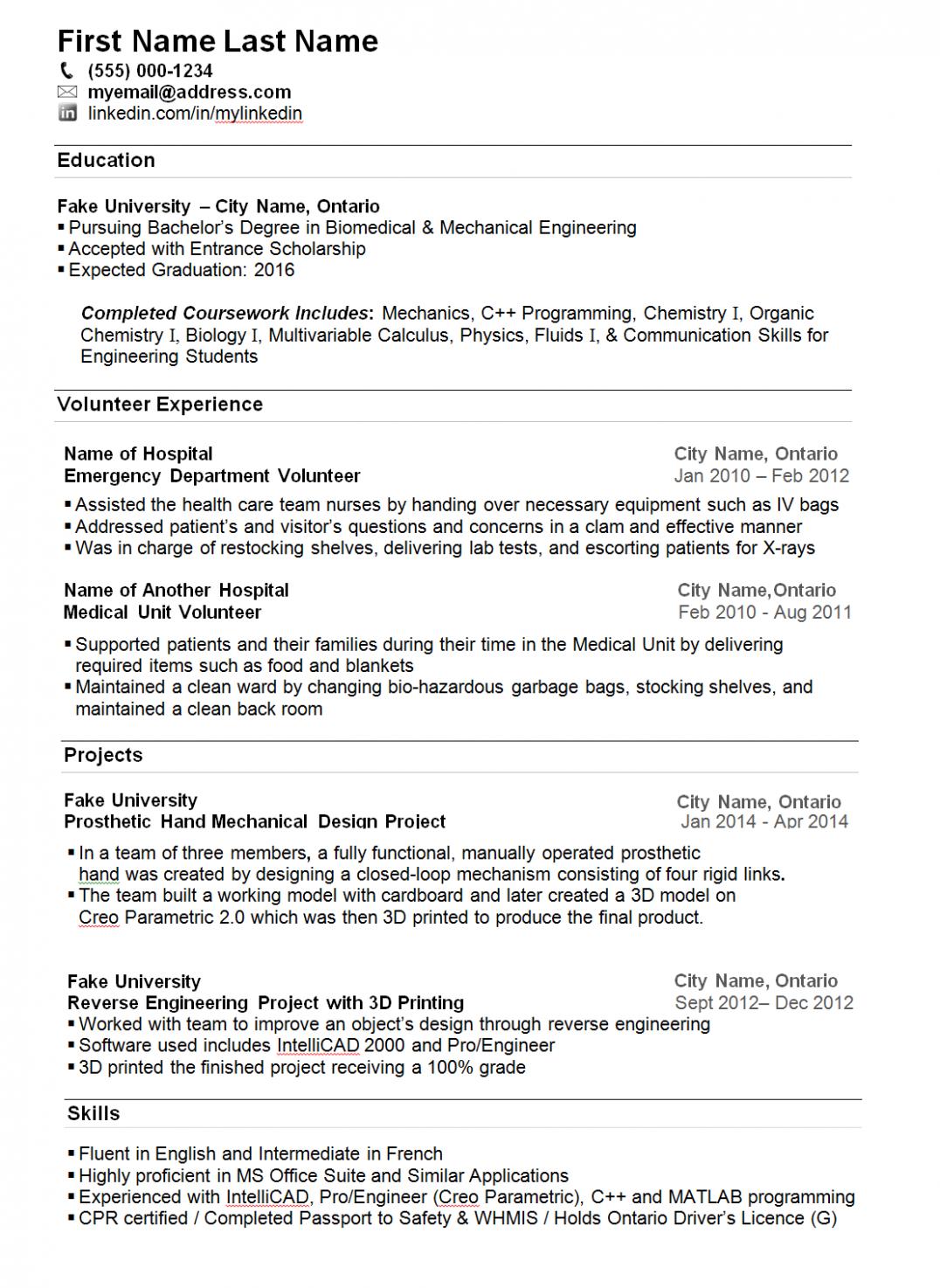 11 Pupil Resume Job