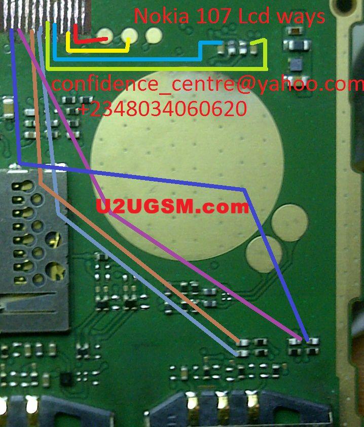 Nokia 107 Cell Phone Screen Repair Light Problem Solution Jumper