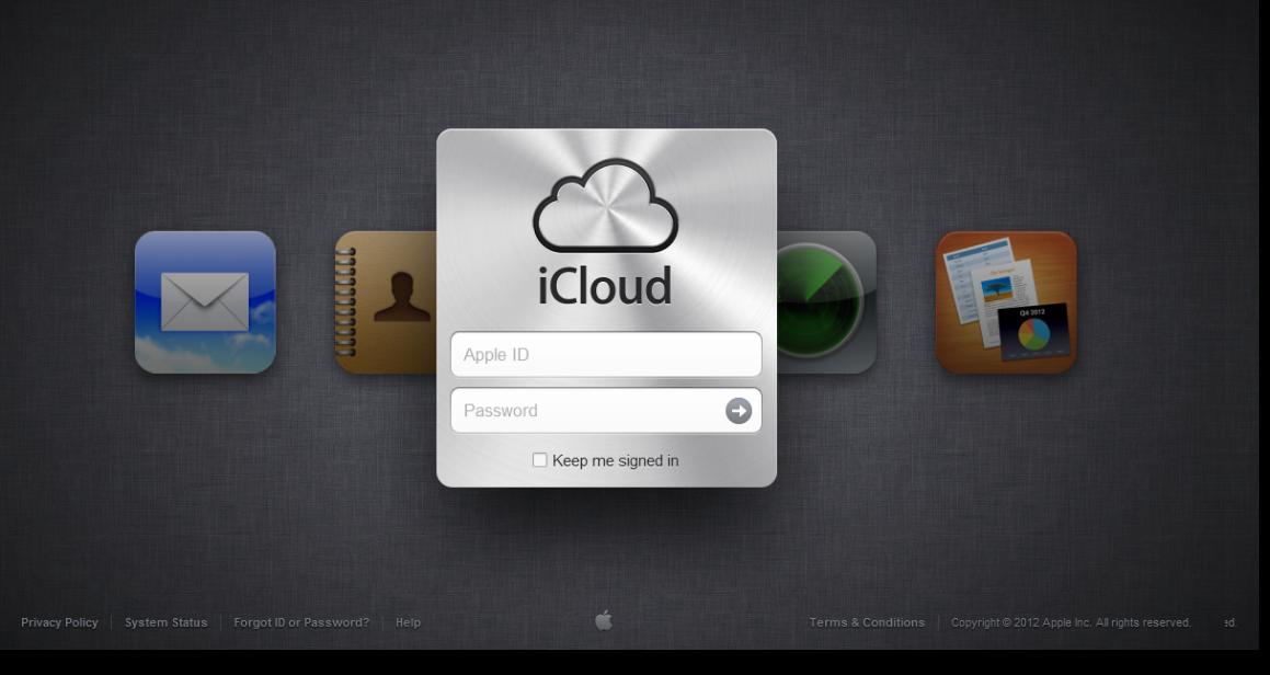 iCloud Sign In Page Icloud, Ipad hacks, Apple