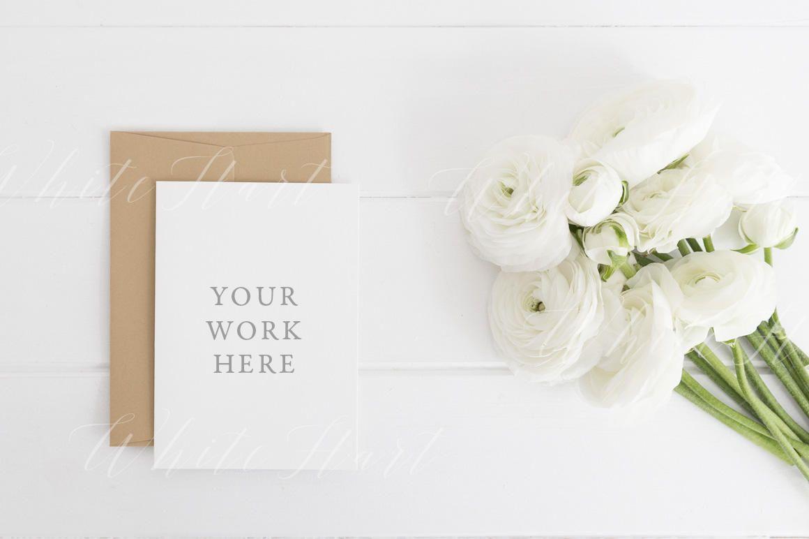 Styled Stock Photography Wedding Stationery Mockup A6