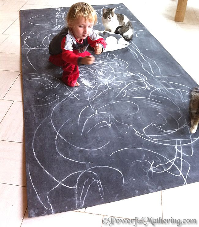 How to Make a {giant or little} DIY Kids Chalk Board *** PowerfulMothering.com