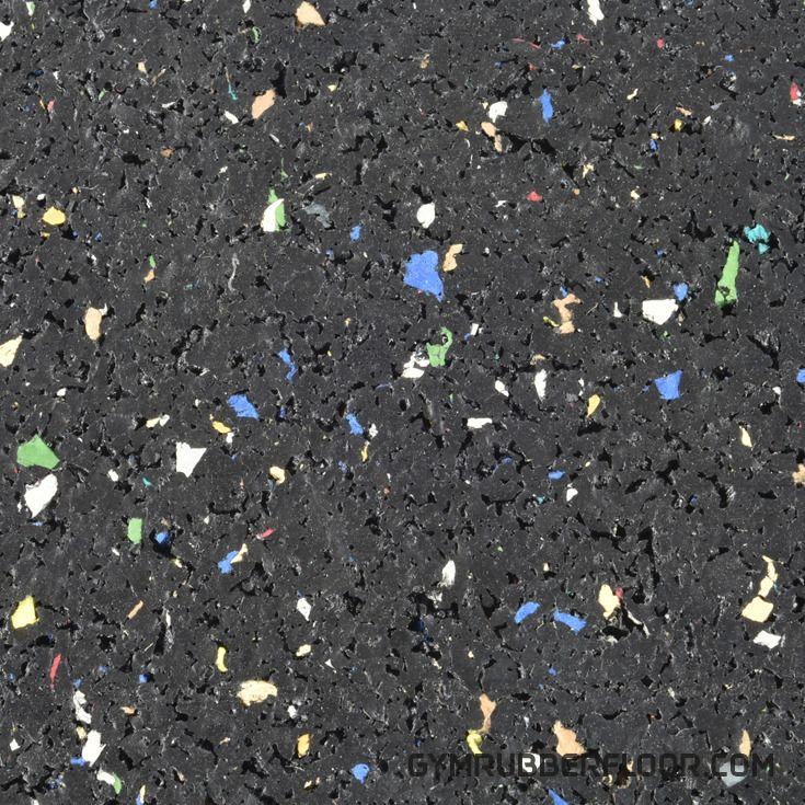 Rubber Tile Interlocking 2x2 Ft 1/4 Inch Regrind Confetti