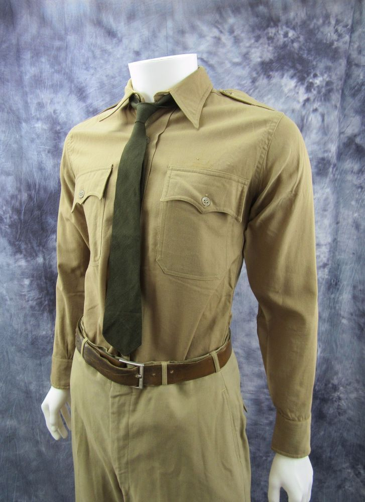 7bb98dced9c WW2 US Army Air Corp Force Officer Dress Uniform military estate shirt  pants tie