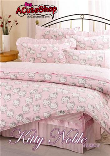 I Have This Design Myself At Home. Very Cute And Elegant! Hello Kitty FACE. Fitted  SheetsBed ...