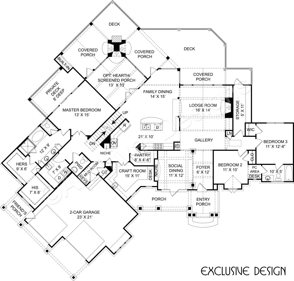 Amicalola Cottage | Rustic House Plans | Small Cottage Plans ...
