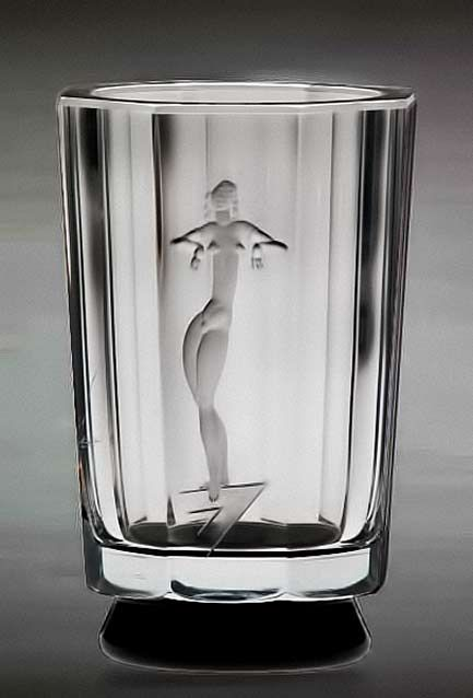 Art Deco Vase By Simon Gate Orrefors Sweden Around 1932 Glass