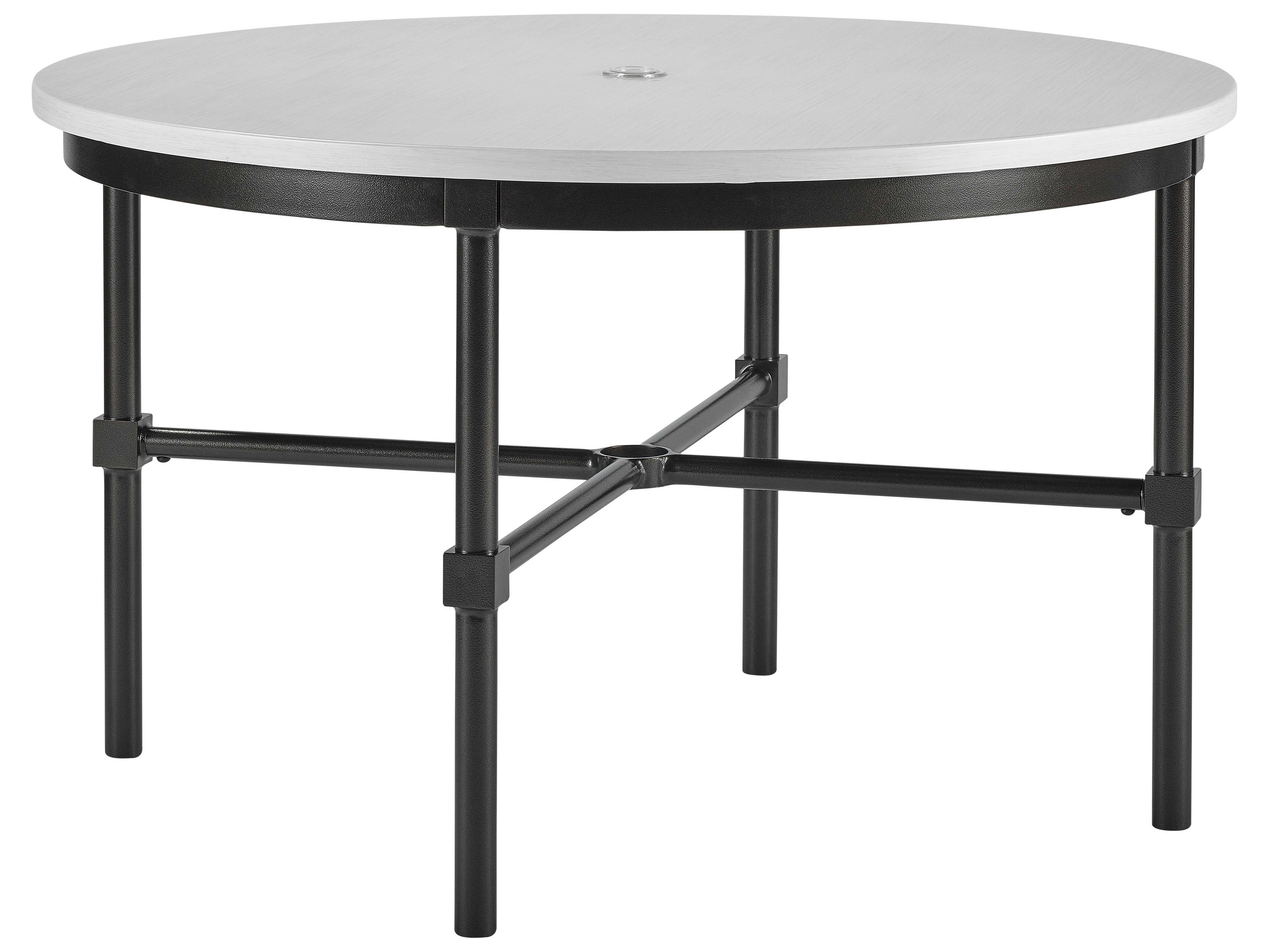 Lane Venture Langham Dark Bronze Aluminium 48 Wide Round Dining Table With Umbrella Hole Round Dining Table Dining Table Patio Dining Table [ jpg ]