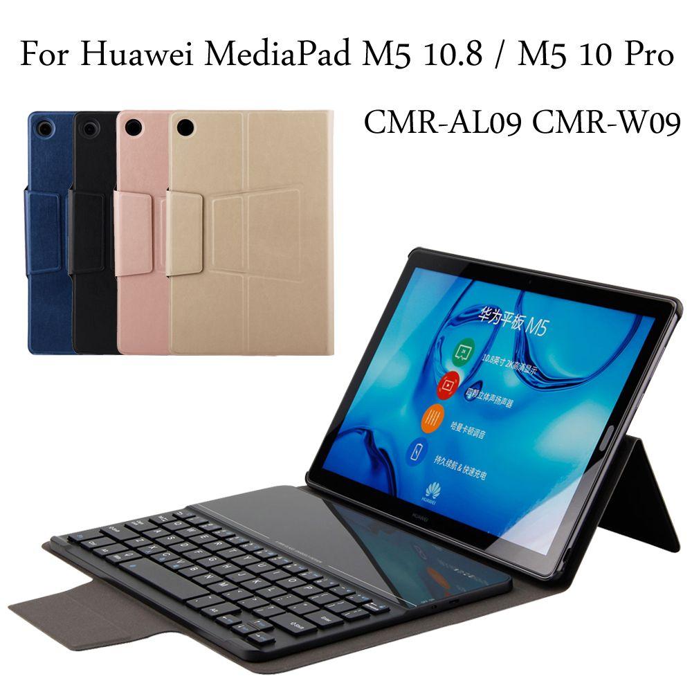 Case For Huawei Mediapad M5 10 8 M5 10 Pro Keyboard Cmr Al09 Cmr W09 New Bluetooth Keyboard Portfolio Folio Case Cover Bluetooth Keyboard Huawei Case Cover