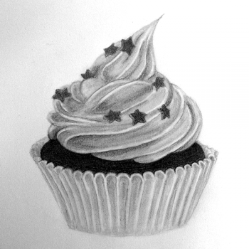 Pin By Stephanie Tarrer On Party Cupcake Logo Branding Cupcake Drawing Cake Drawing Fun Cupcake Recipes