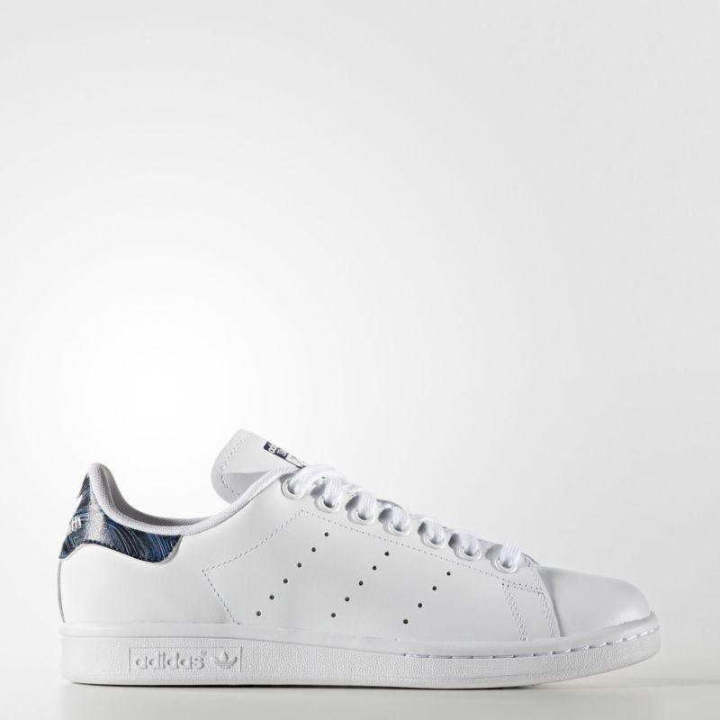 promo code 13631 add1e adidas Blue Geology Stan Smith Shoes Women's White ...
