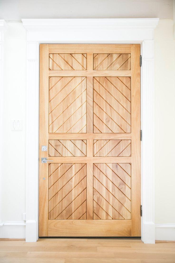 Beautiful light wood door | Amy Berry Design
