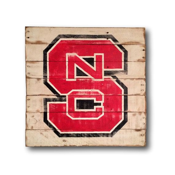 North Carolina State Sign Nc State Wolfpack Wall Hanging Nc State Etsy Wall Art State Signs