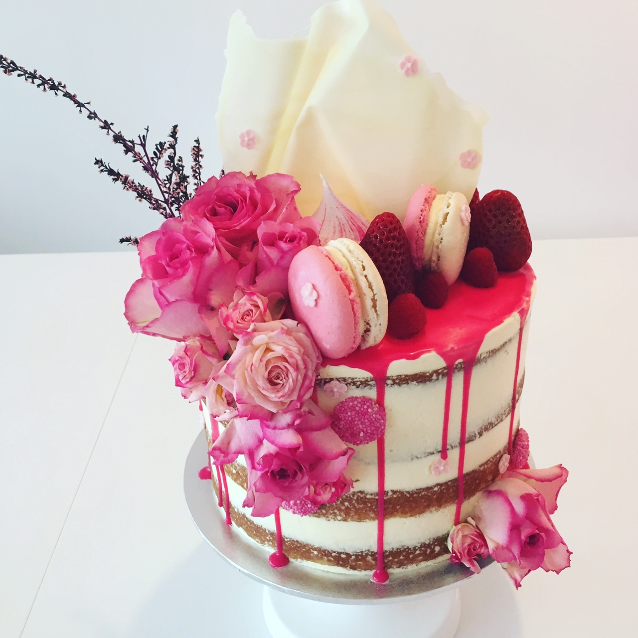 This drizzled hot pink cake by Art of Baking! Check them out in the ...