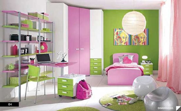 Pink And Green Bedroom Designs Custom Bedrooms For Girls Kidsgreen Wallwhite Pink Wardrobewhite Green Inspiration Design