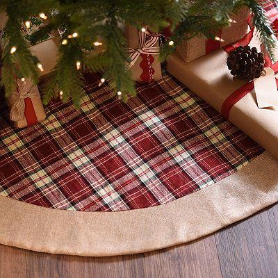 Red Tartan Plaid Christmas Tree Skirt юбки для елки Pinterest
