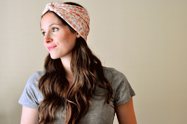 DIY Turban Headbands from Cotton and Curls- would be great using some hand dyed jersey!