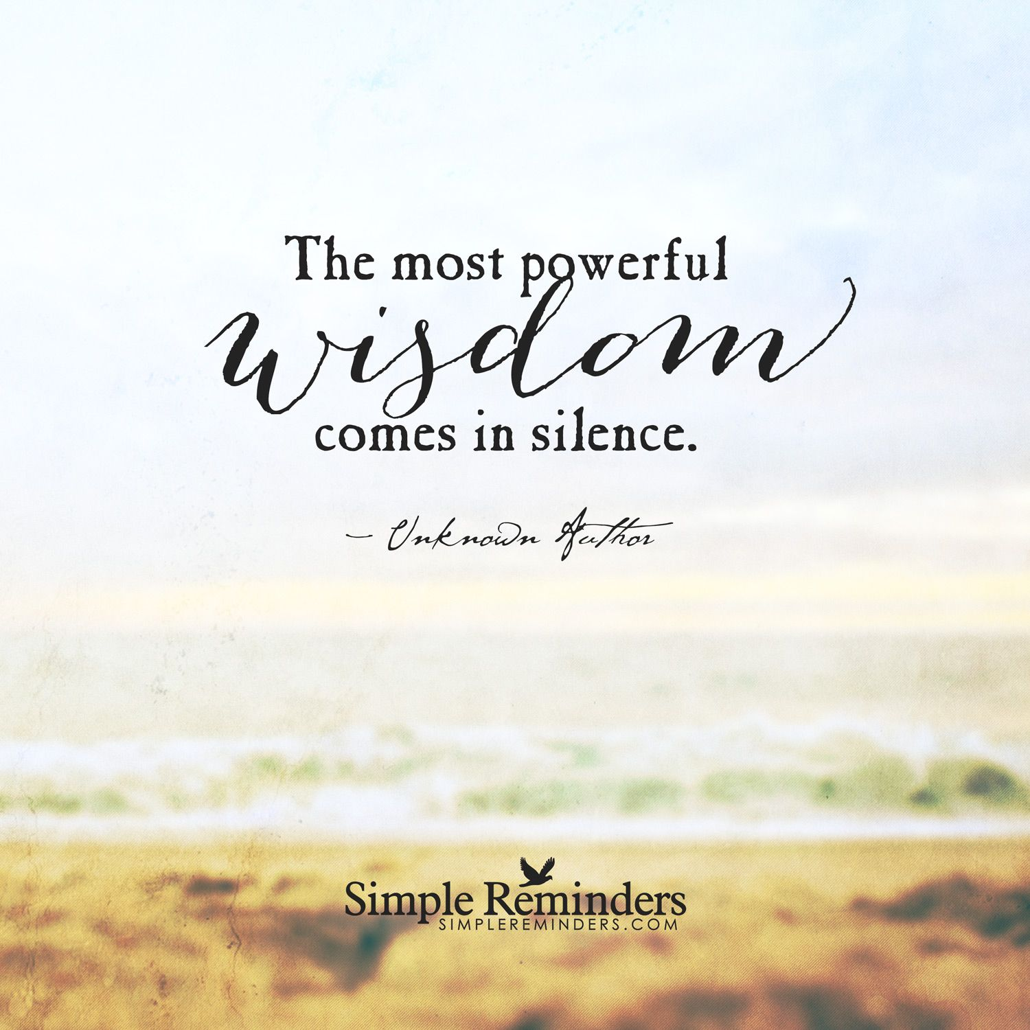 Wisdom Quotes Inspirational: The Most Powerful Wisdom Comes In Silence.