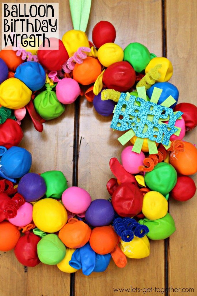 Easy DIY Birthday Decor Wreath Diy