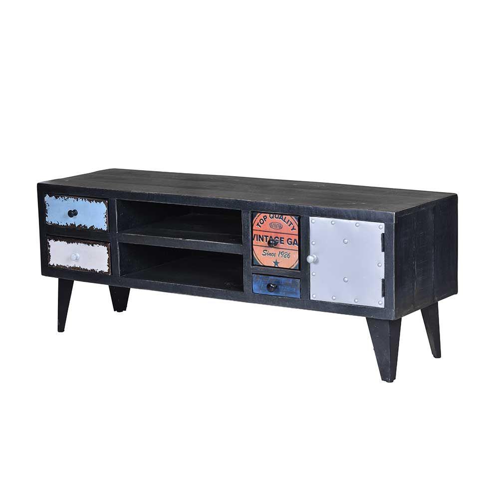 TV Lowboard im Vintage Style Schwarz Bunt Jetzt bestellen unter ...