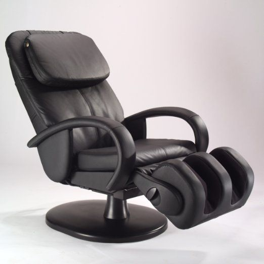 Amazon Com Human Touch Ht 125 Robotic Stretching Massage Chair Lounger Recliner Black Leather Massage Chair Massage Black Upholstery