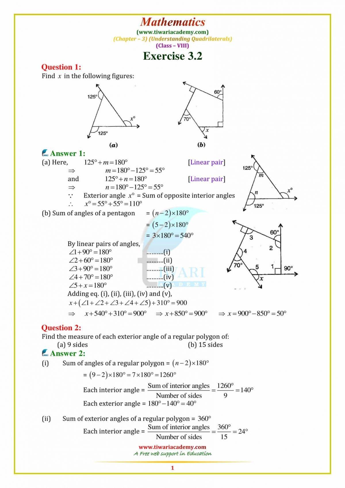 Https Www Tiwariacademy Com Ncert Solutions Ncert Solutions Class 8 Maths Chapter 3 Class 8 Math Quadrilaterals [ 1698 x 1200 Pixel ]