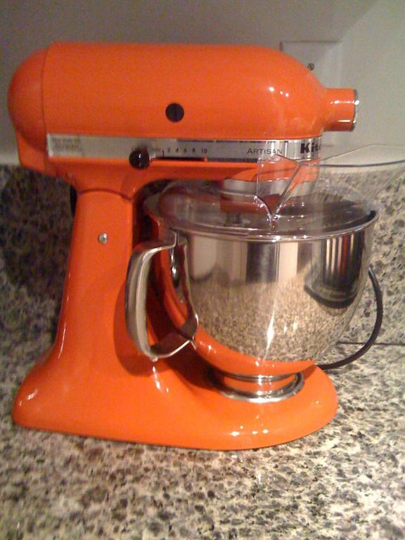 Well Hello There Orange Kitchen Aid Mixer