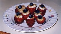Cream cheese filled strawberries. I make these every summer...quick, easy and my family loves them.