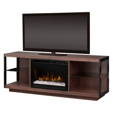 Dimplex Leif Media Console Electric Fireplace With Acrylic