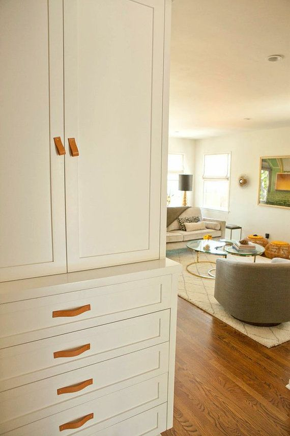 Natural Leather Drawer Pulls and Cabinet Handles | MidoriOrganics ...