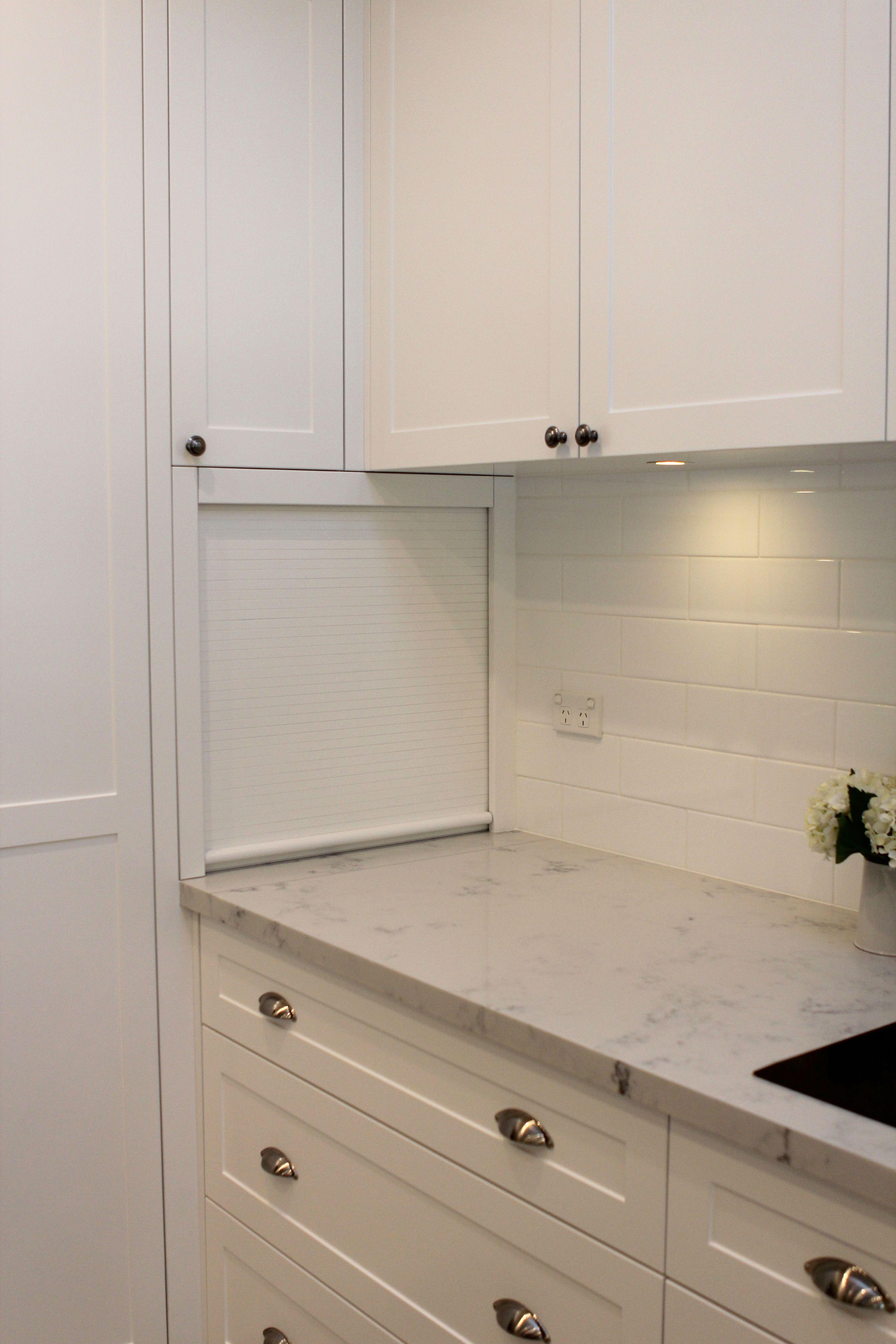Kitchen Roller Door Appliance Cupboard Used The Quot Dead