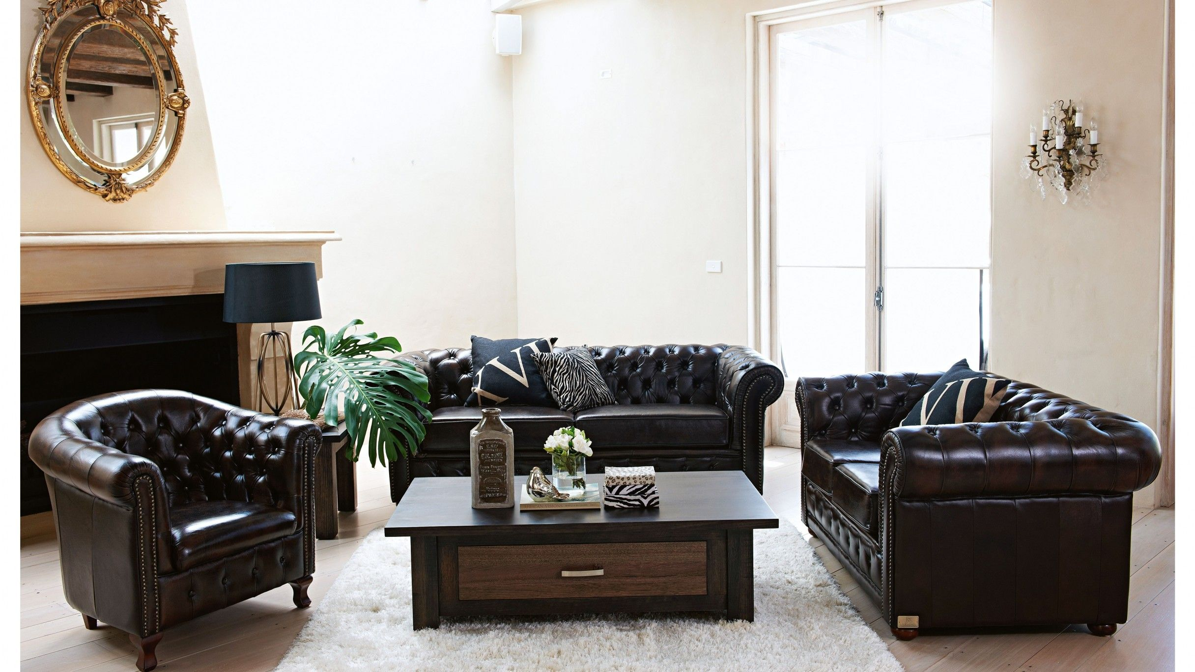 Lounge Suite From Harvey Norman About 7k Recreate The Look Of An English Manor In Your Home With Leather Sofa Living Room 3 Seater Leather Sofa Leather Sofa