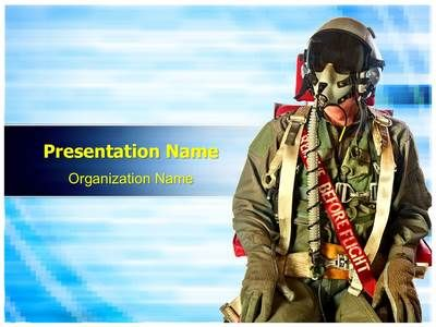 Fighter Pilots Suit Powerpoint Template Is One Of The Best