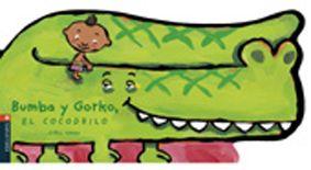 Bumba y Gorko, el cocodrilo. Hahn, Cyril.  Bumba construye una balsa para cruzar el río. Sus amigos también montan, pero la balsa es pequeña y todos terminan en el agua... Tienen miedo del cocodrilo, pero éste les salva llevándolos en su espalda.