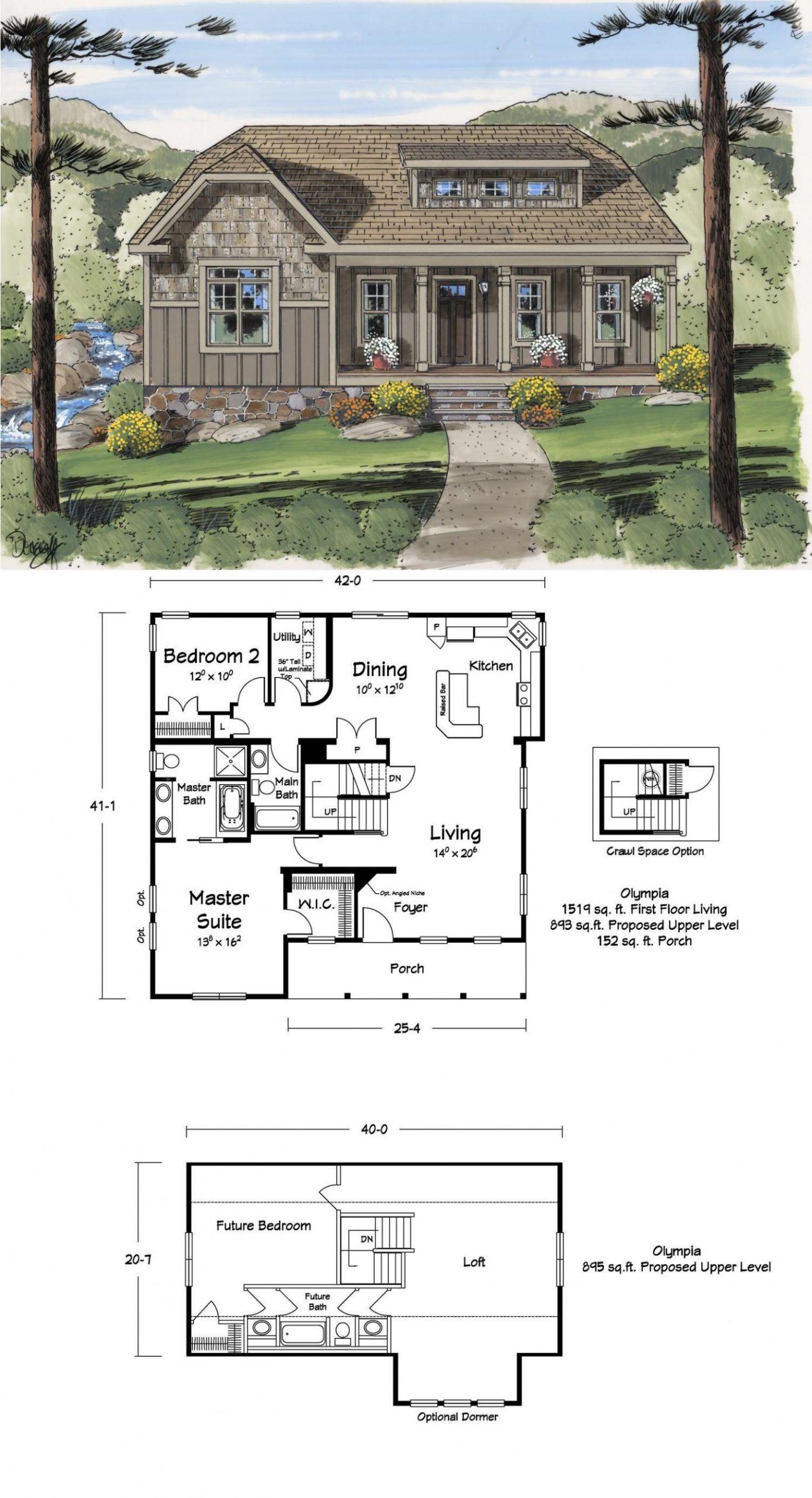 Bedroom Floor Loft Plan Tinyhomesplanstwostory 4 Bedroom Floor Plan With Loft 4 Bedroom Floor Plan With Mountain House Plans Loft Floor Plans House Plans