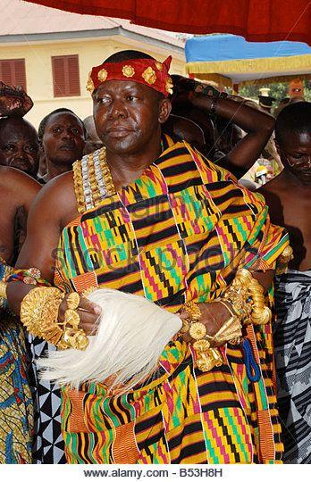 a2b0648a1 Otumfuo Osei Tutu II, the King of Ashanti , Ghana - Stock Image ...