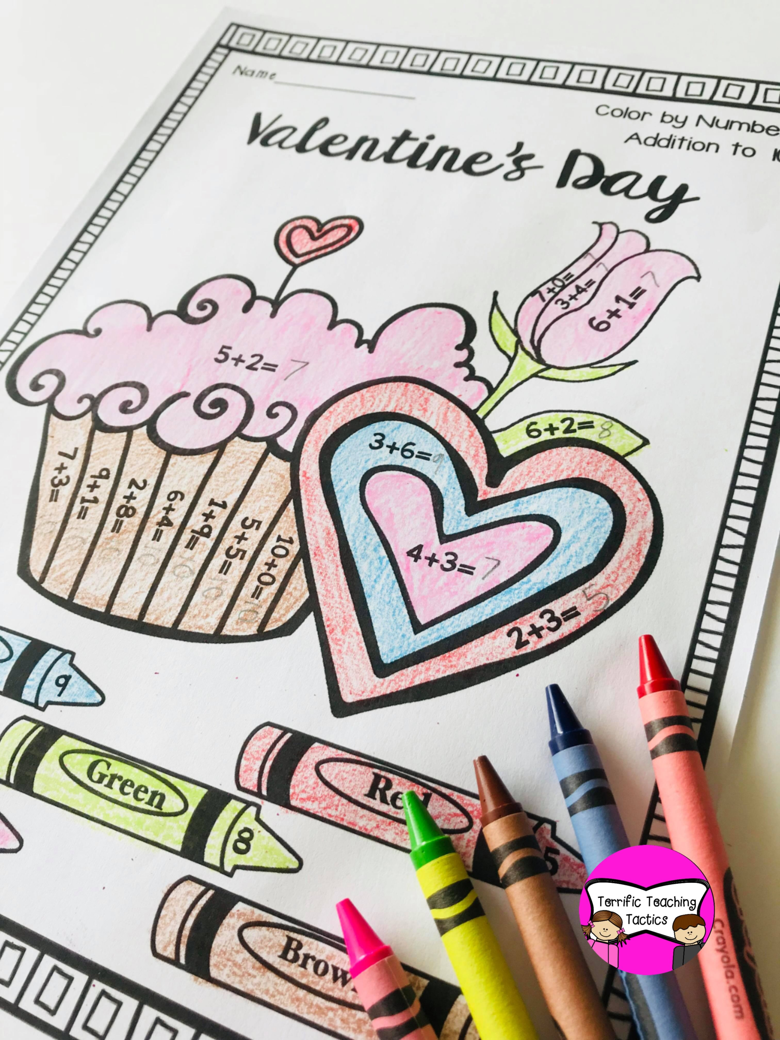 Valentine S Day Color By Addition In With Images