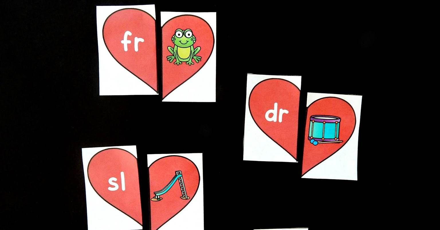 Heart Beginning Blends Puzzles