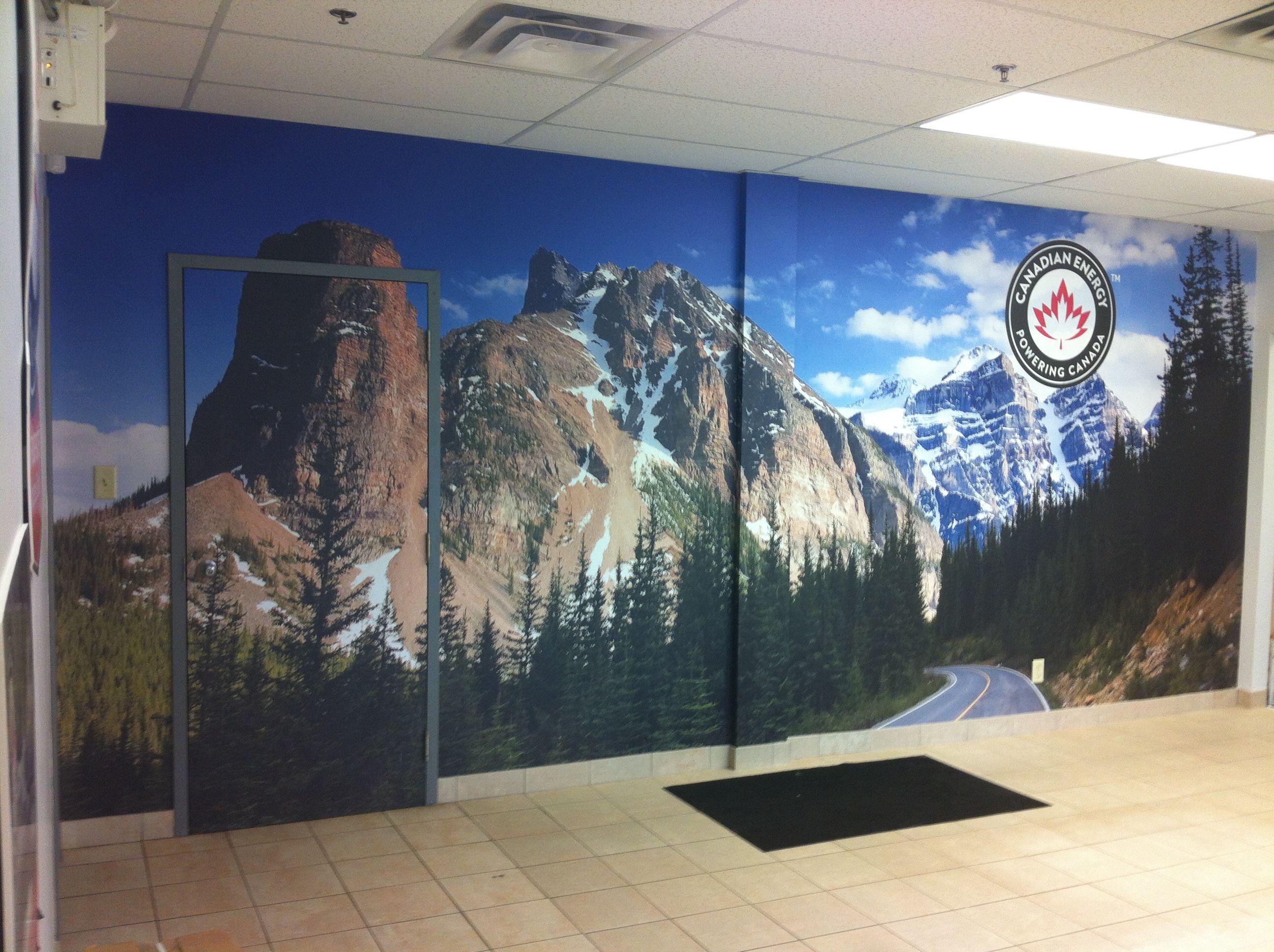 Custom wall mural ideas for your office space #officemurals  #customwallart