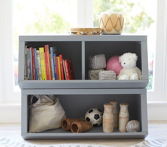 Double Market Bin With Divider In 2020 Pottery Barn Kids