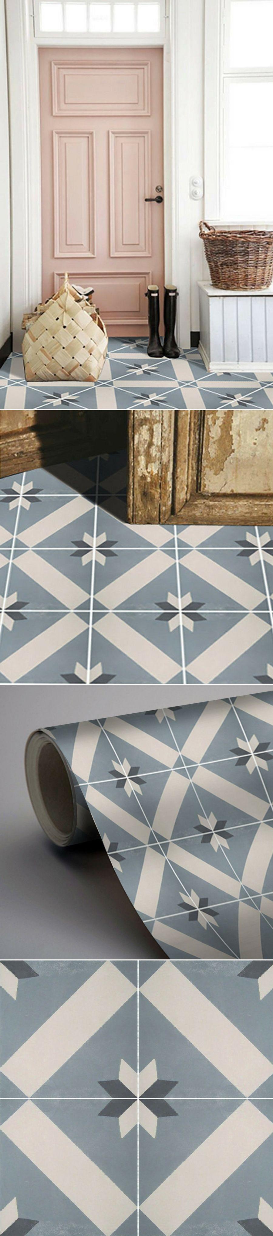 carrelage adh sif imitation carreaux de ciment on the. Black Bedroom Furniture Sets. Home Design Ideas