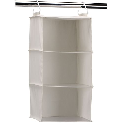 This 3Shelf Hanging Closet Organizer saves space in your closet and