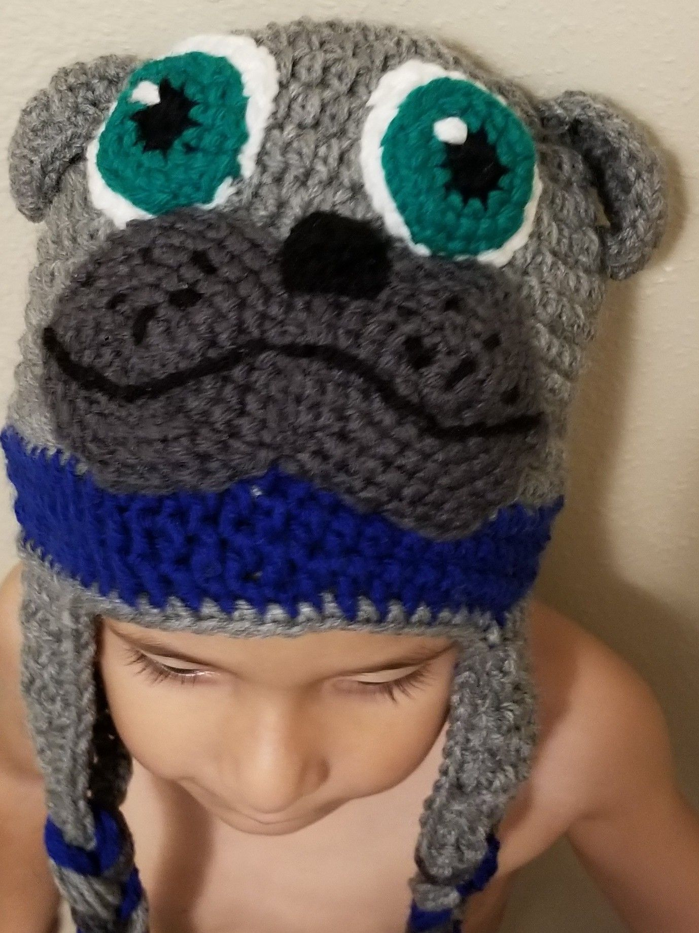1fd8f97a79a Puppy Dog Pals Bingo and Rolly crochet hat with earflaps kids