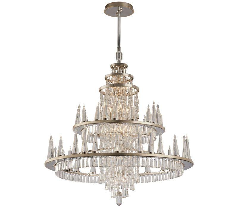 Corbett lighting 170 012 illusion 60 light chandelier at del mar fans lighting