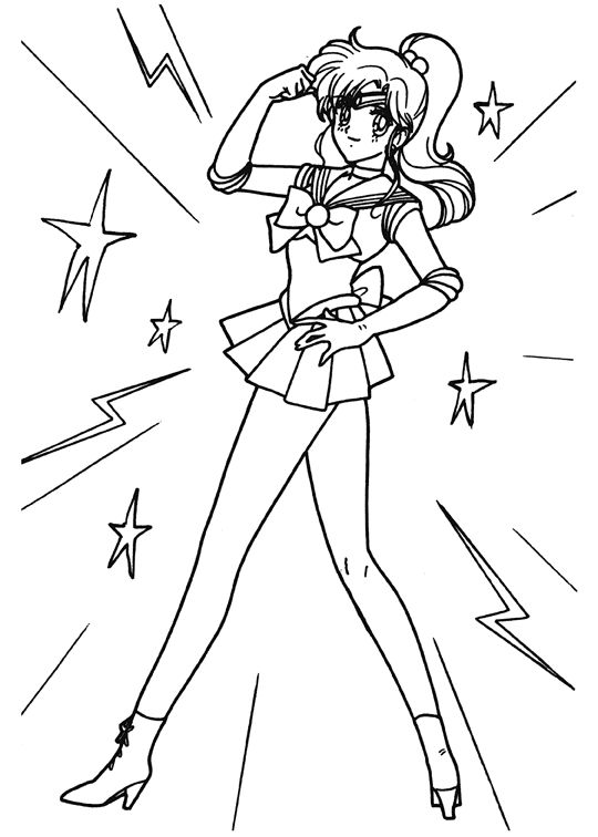 Sailor Moon Anime Coloring Page For Kids Printable Sailor Moon Coloring Pages Moon Coloring Pages Cool Coloring Pages