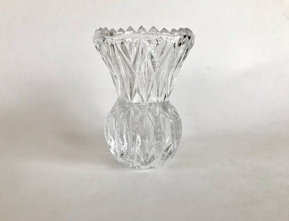 Vintage Princess House Small Cut Crystal Bud Vase My Shoppe Items