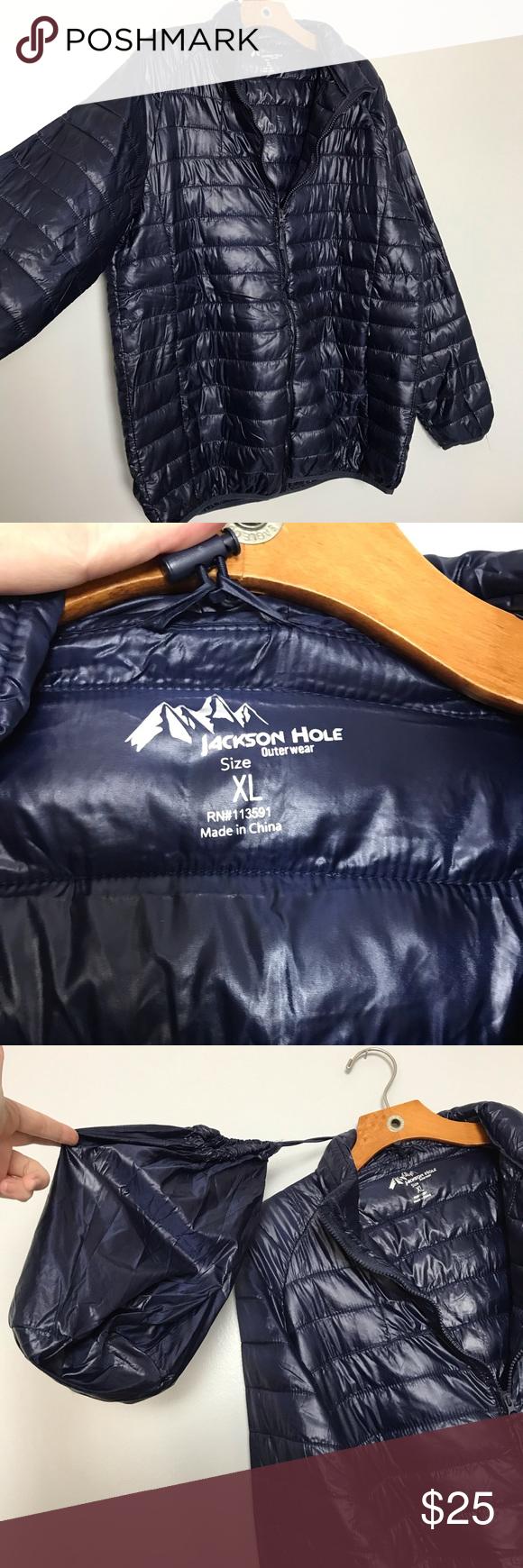 Jackson Hole Dark Blue Lightweight Jacket Lightweight Jacket Puff Jacket Clothes Design [ 1740 x 580 Pixel ]