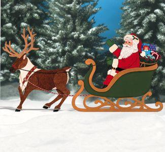 Santa Elves Realistic Santa Reindeer Pattern Set Christmas Yard Art Santa And Reindeer Christmas Yard Decorations