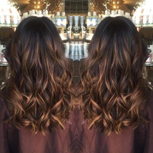60 ideas de color de cabello marrón chocolate para morenas – Los mejores cortes de pelo peinados