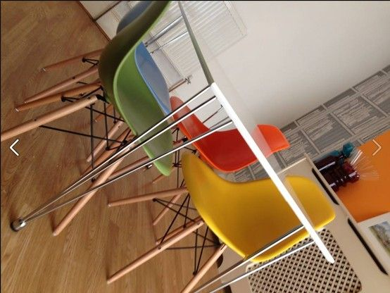 Our Multi Coloured DSW Charles Eames Style Dining Chairs Picture From A  Happy Customer! £