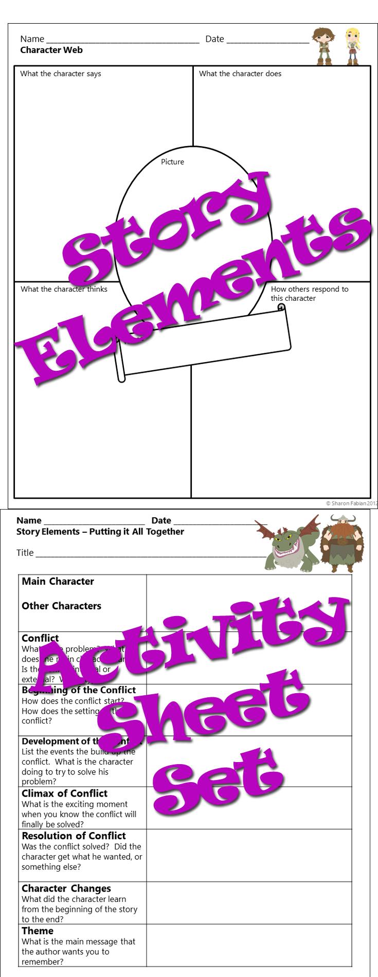 Character Setting Plot Worksheet [ 1900 x 735 Pixel ]